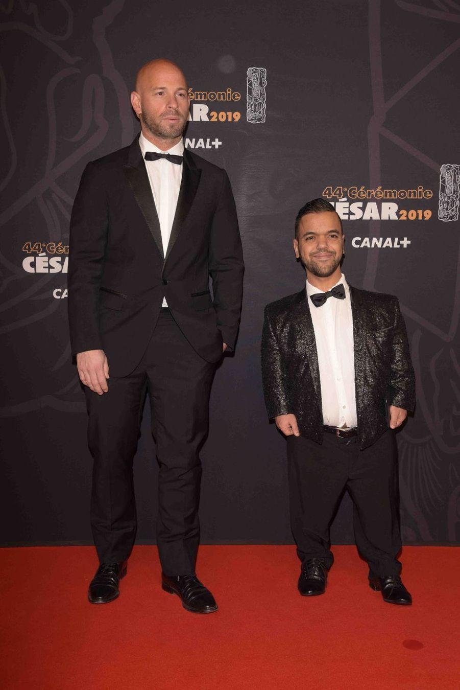 Franck Gastambide et Anouar Toubali à la 44e cérémonie des César à la Salle Pleyel à Paris le 22 février 2019