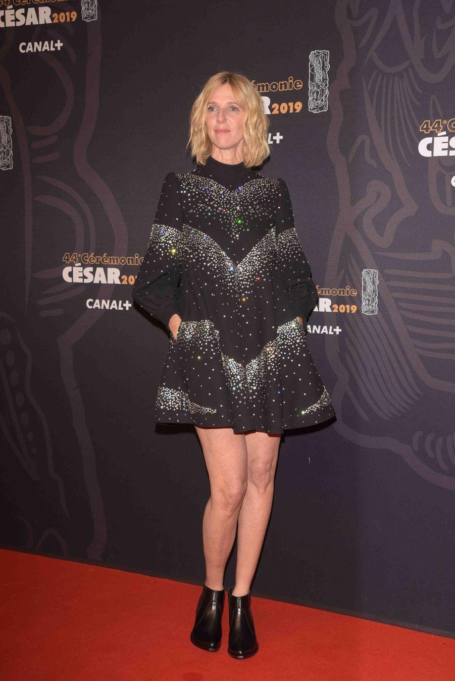 Sandrine Kiberlainà la 44e cérémonie des César à la Salle Pleyel à Paris le 22 février 2019