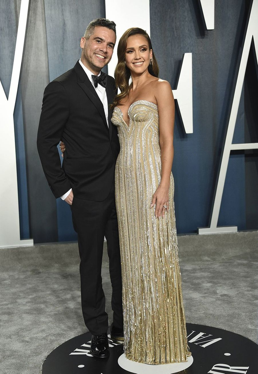 Cash Warren et Jessica Alba à l'after-party des Oscars organisée par «Vanity Fair» à Los Angeles le 9 février 2020