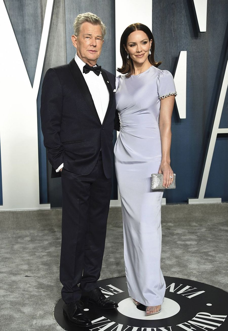 David Foster et Katharine McPhee à l'after-party des Oscars organisée par «Vanity Fair» à Los Angeles le 9 février 2020