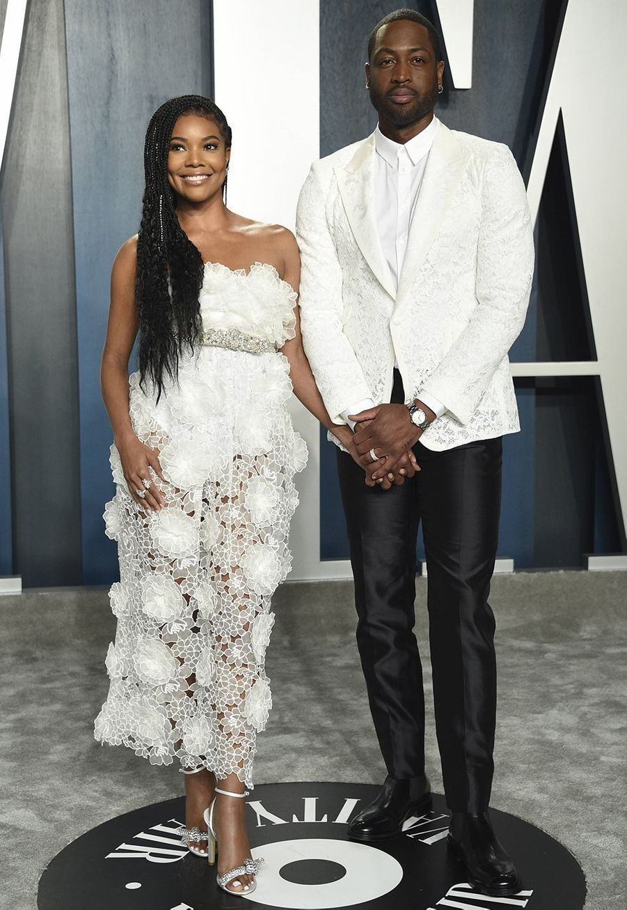 Gabrielle Union et Dwyane Wade à l'after-party des Oscars organisée par «Vanity Fair» à Los Angeles le 9 février 2020