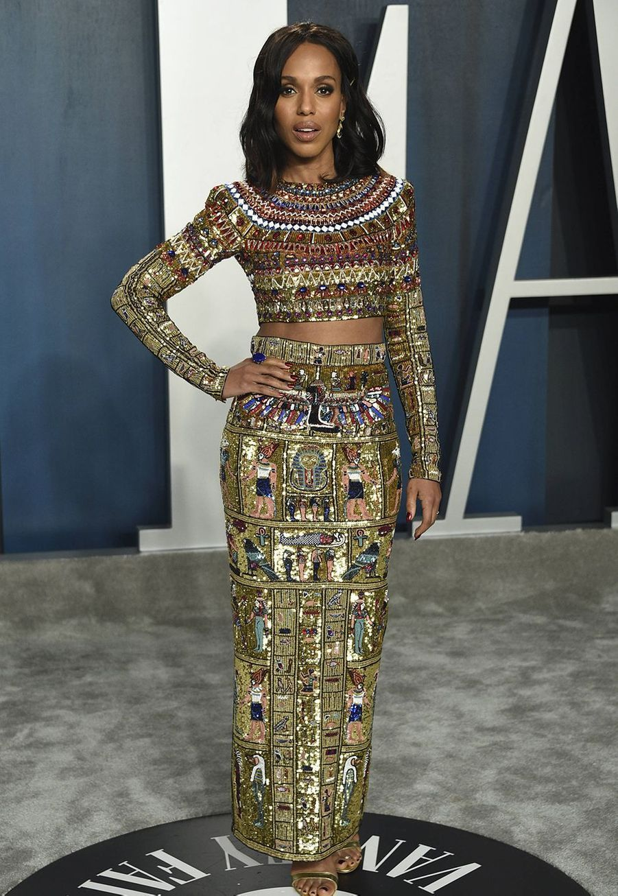 Kerry Washington à l'after-party des Oscars organisée par «Vanity Fair» à Los Angeles le 9 février 2020