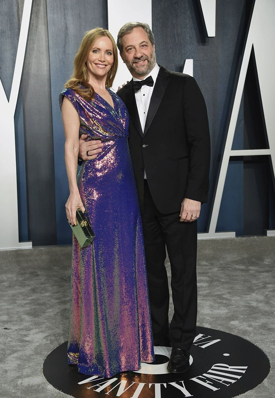 Leslie Mann et Judd Apatow à l'after-party des Oscars organisée par «Vanity Fair» à Los Angeles le 9 février 2020