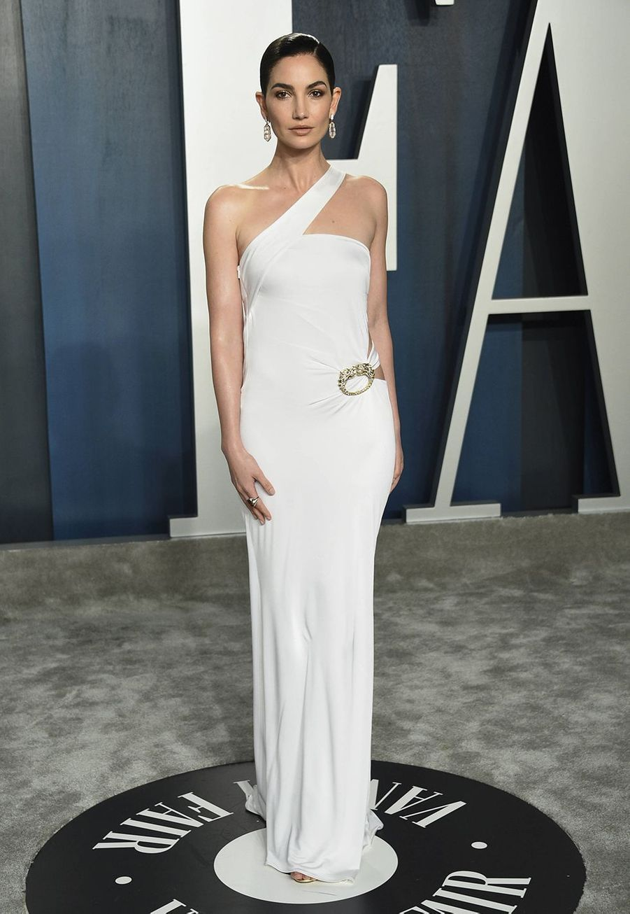 Lily Aldridge à l'after-party des Oscars organisée par «Vanity Fair» à Los Angeles le 9 février 2020