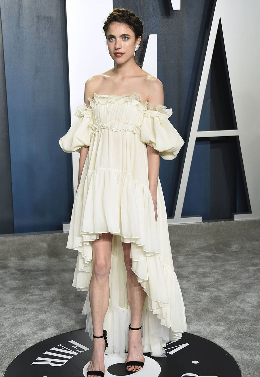 Margaret Qualley à l'after-party des Oscars organisée par «Vanity Fair» à Los Angeles le 9 février 2020