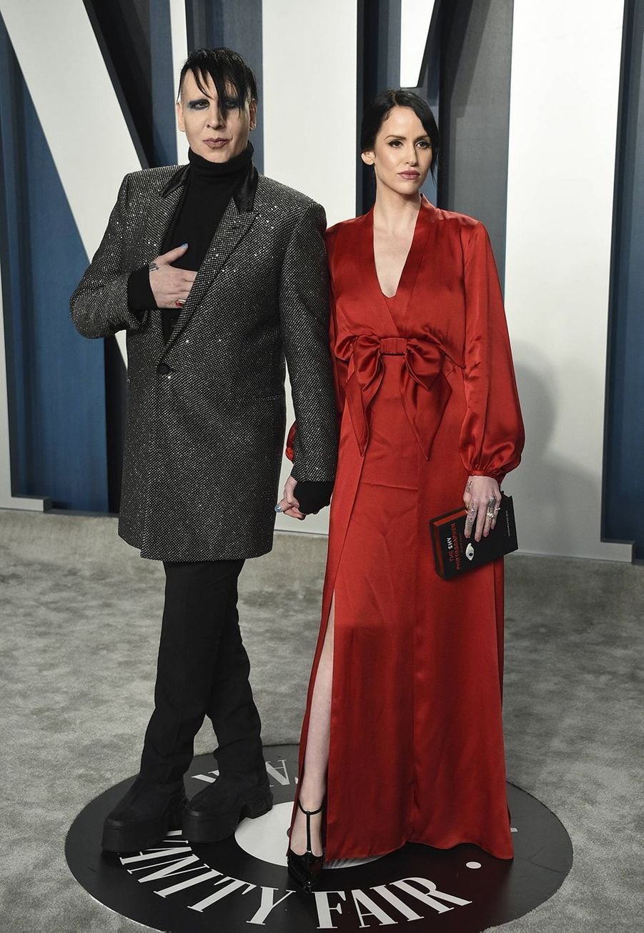 Marilyn Manson et Lindsay Usich à l'after-party des Oscars organisée par «Vanity Fair» à Los Angeles le 9 février 2020