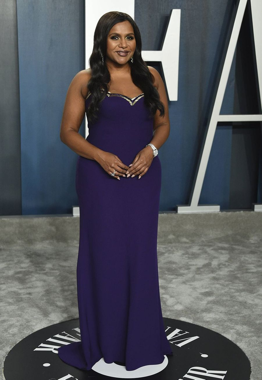 Mindy Kaling à l'after-party des Oscars organisée par «Vanity Fair» à Los Angeles le 9 février 2020