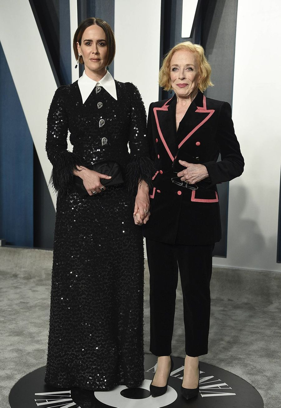 Sarah Paulson et Holland Taylor à l'after-party des Oscars organisée par «Vanity Fair» à Los Angeles le 9 février 2020
