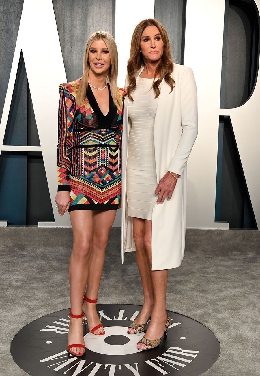 Sophia Hutchens et Caitlyn Jenner à l'after-party des Oscars organisée par «Vanity Fair» à Los Angeles le 9 février 2020
