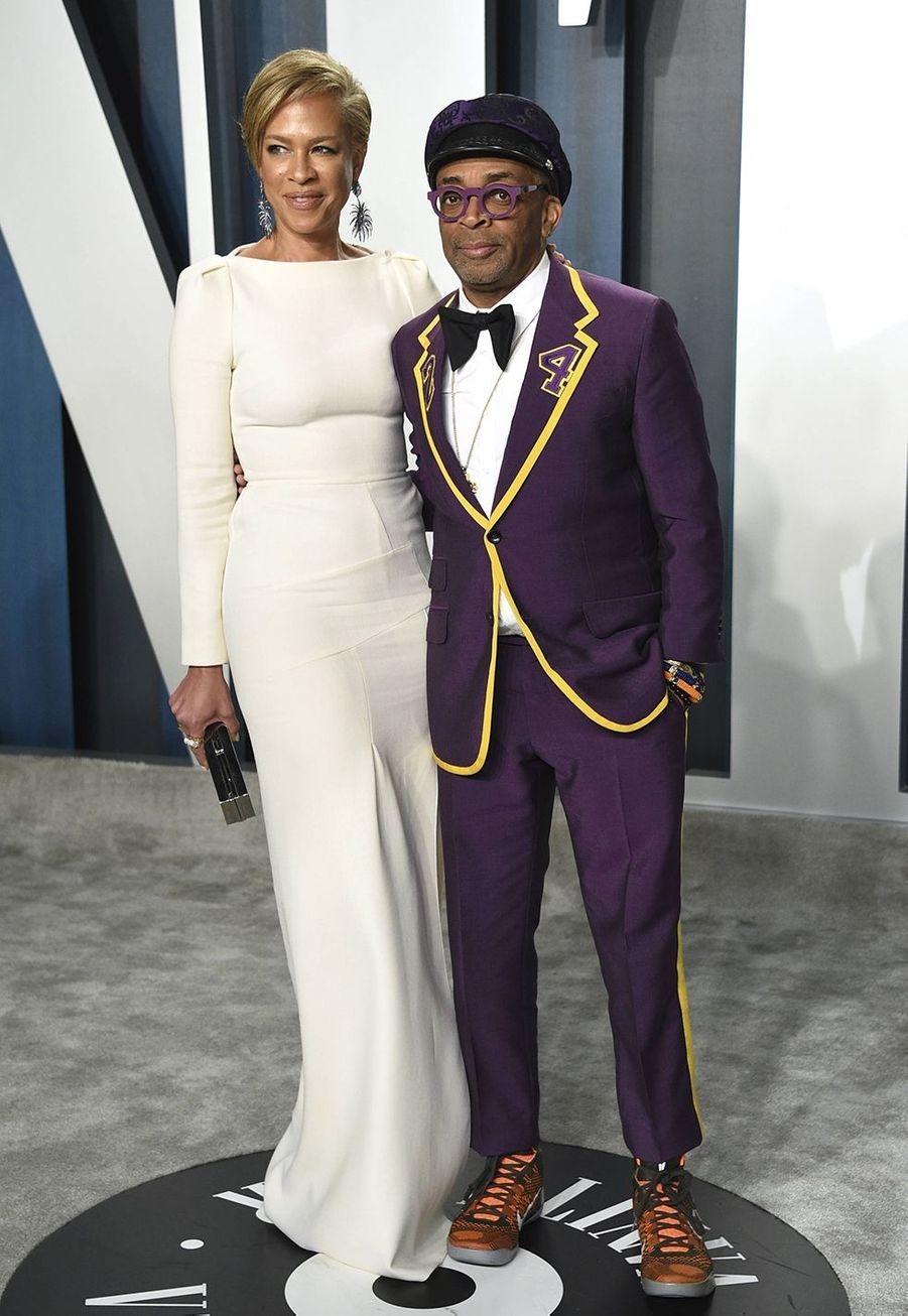 Tonya Lewis et Spike Lee à l'after-party des Oscars organisée par «Vanity Fair» à Los Angeles le 9 février 2020