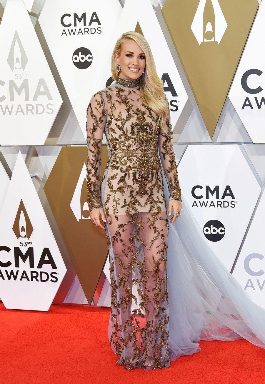 Carrie Underwoodaux Country Music Awards à Nashville le 13 novembre 2019