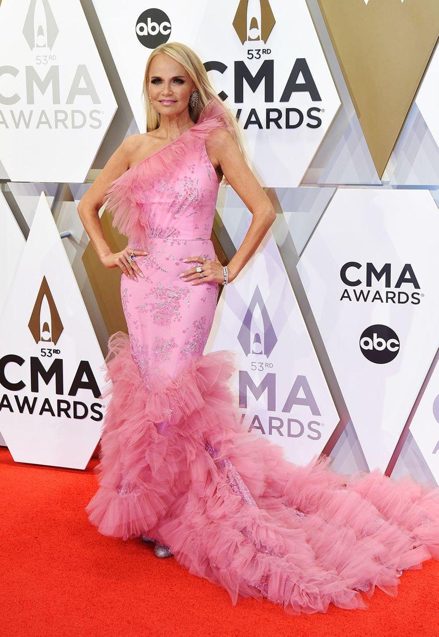 Kristin Chenowethaux Country Music Awards à Nashville le 13 novembre 2019