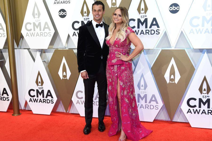 Miranda Lambert et son époux Brendan Mcloughlinaux Country Music Awards à Nashville le 13 novembre 2019