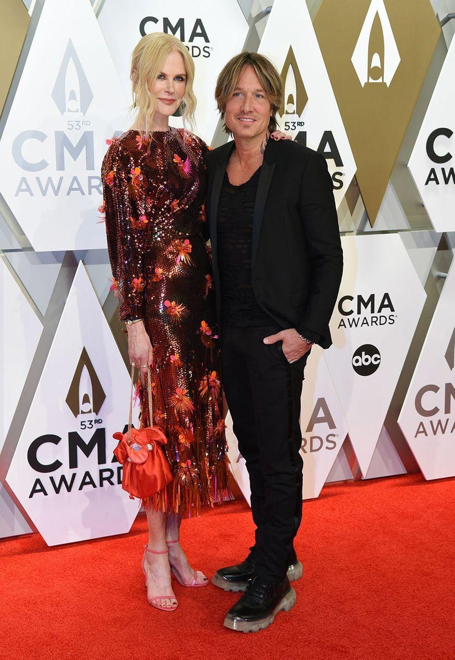 Nicole Kidman et Keith Urban aux Country Music Awards à Nashville le 13 novembre 2019