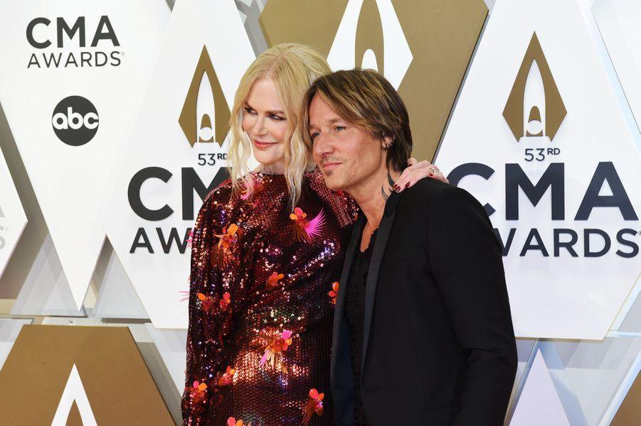 Nicole Kidman et Keith Urbanaux Country Music Awards à Nashville le 13 novembre 2019