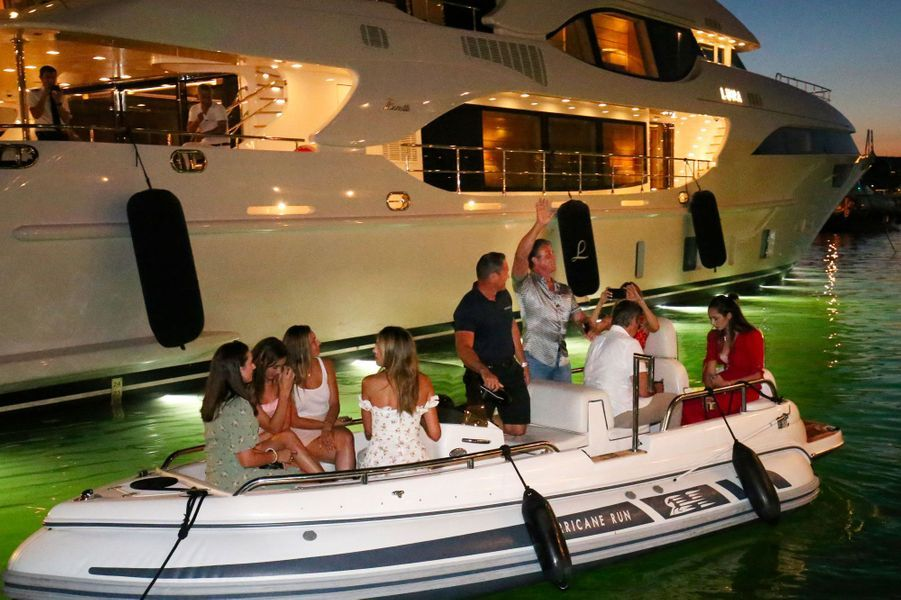 Sylvester Stallone et sa famille à Saint-Tropez le 12 juillet 2018