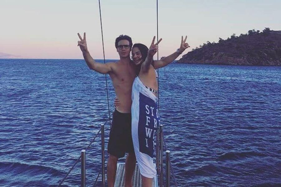 Anouchka Delon en vacances avec Julien Dereims