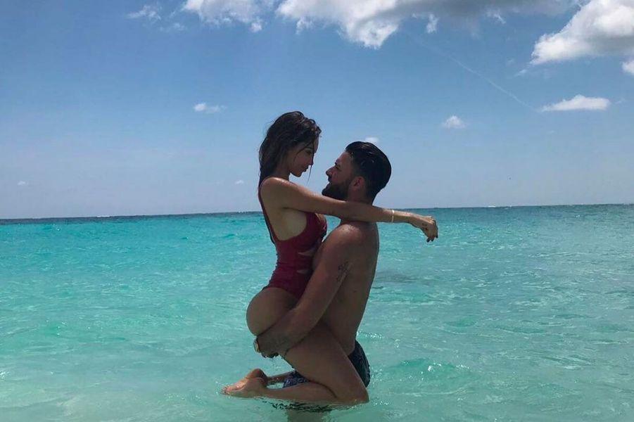 Nabilla et Thomas aux Bermudes en juillet 2018