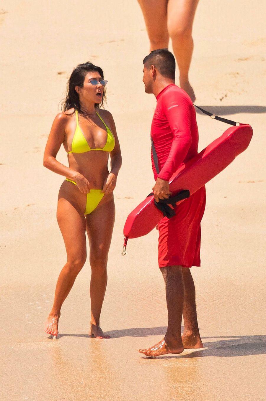 Kourtney Kardashian à Cabo San Lucas, Mexique, le 24 août 2018