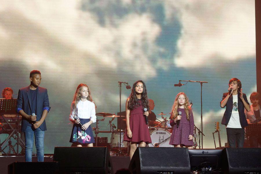 """Les Kids United au concert """"Leurs voix pour l'espoir"""""""