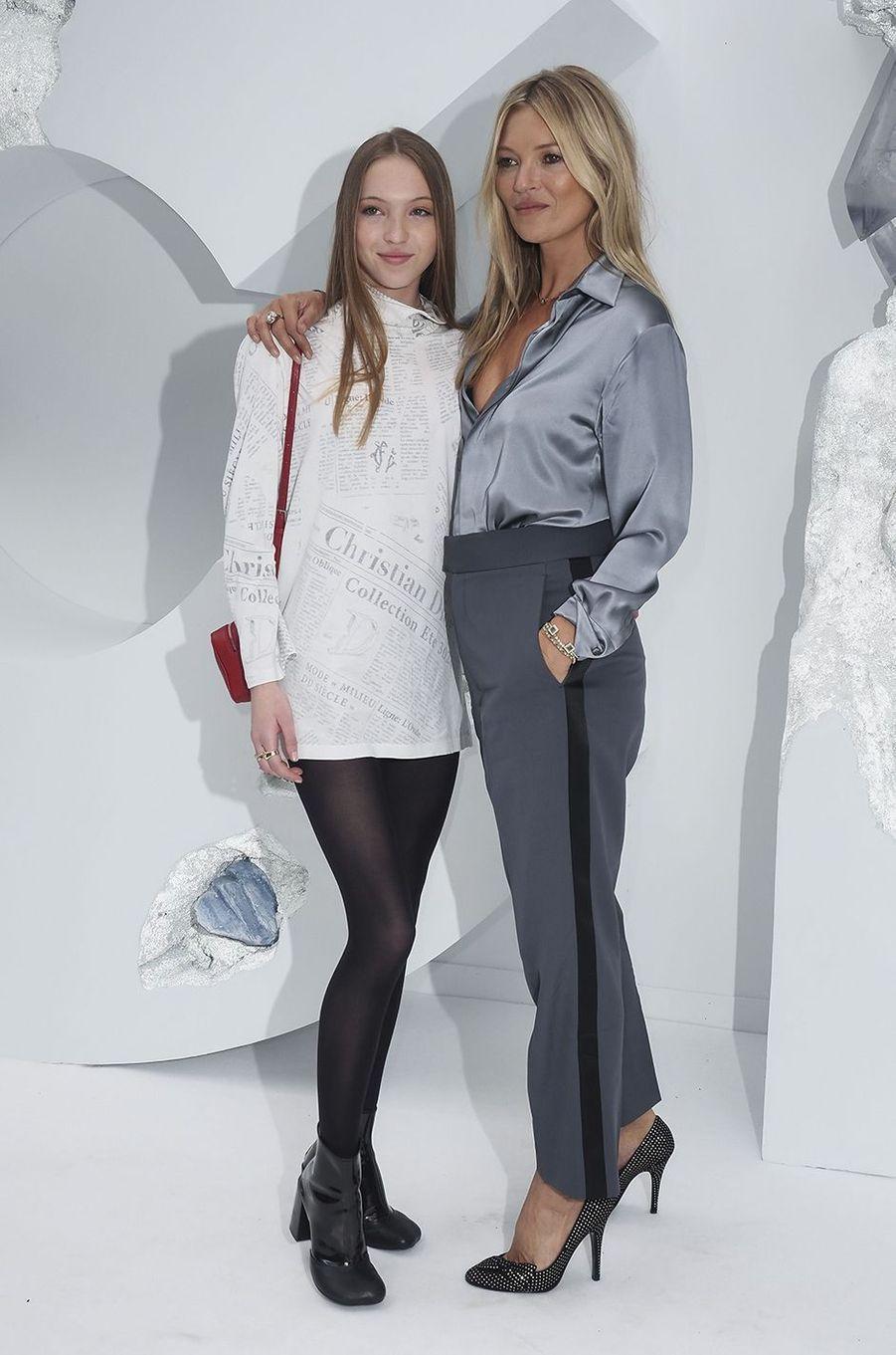 Kate Moss et sa fille Lila Moss au défilé Dior Homme à Paris en juin 2019