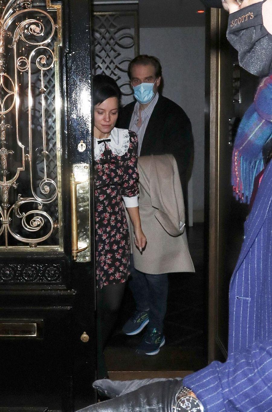 Lily Allen et David Harbour à Londres le 2 décembre 2020