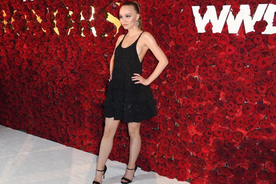Lily-Rose Depp lors de WWD Honors, le 24 octobre 2017 à New York.