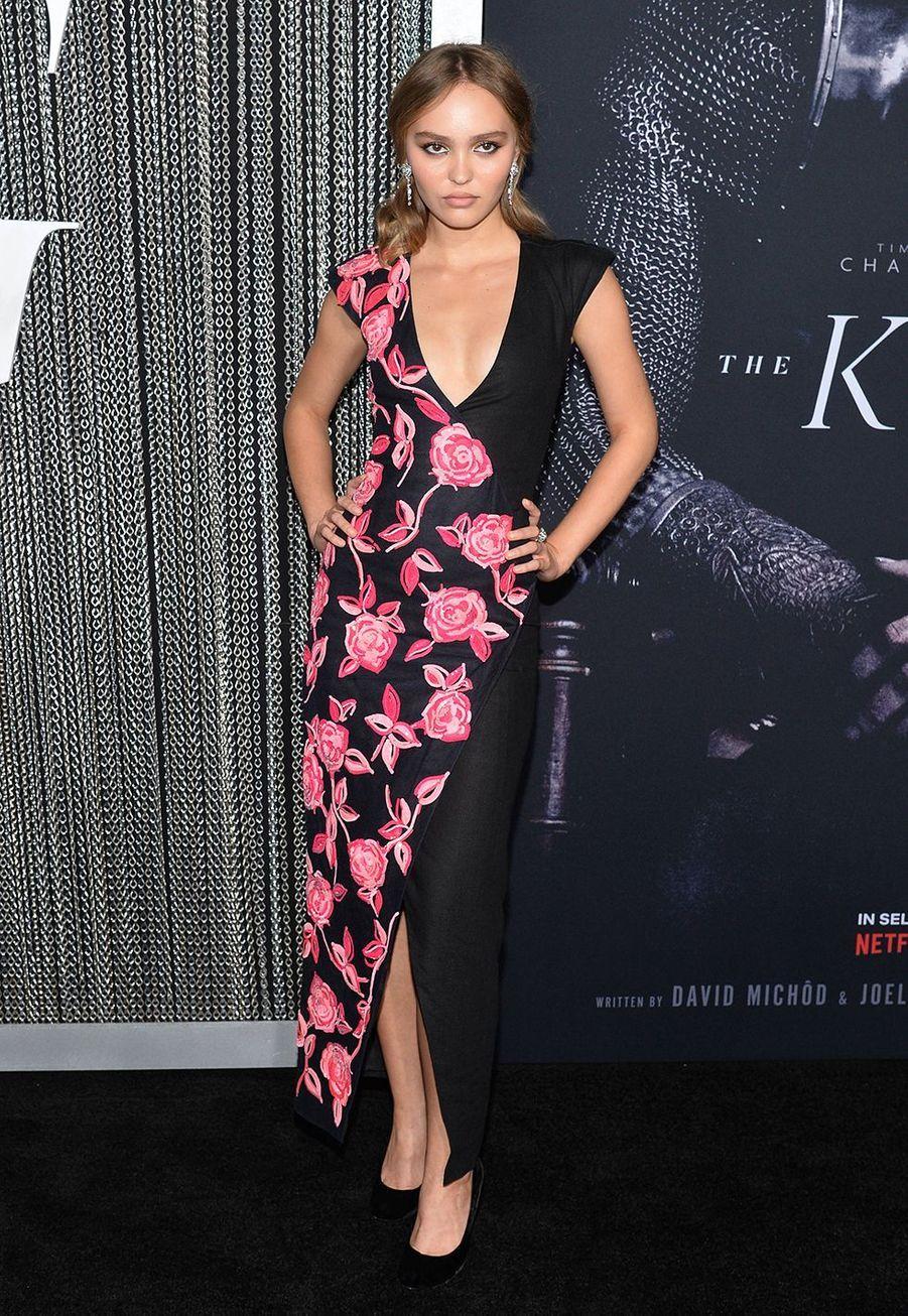 Lily Rose Deppà la Première de «The King» au SVA Theater, New York, mardi 1er octobre.