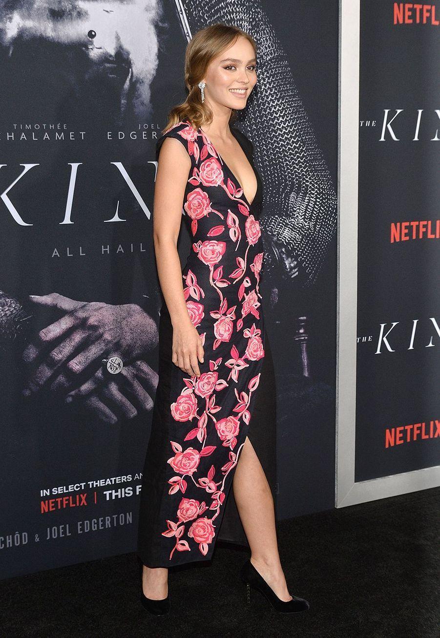 Lily Rose Deppà la Première de «The King» au SVA Theater, New York, mardi 1eroctobre.