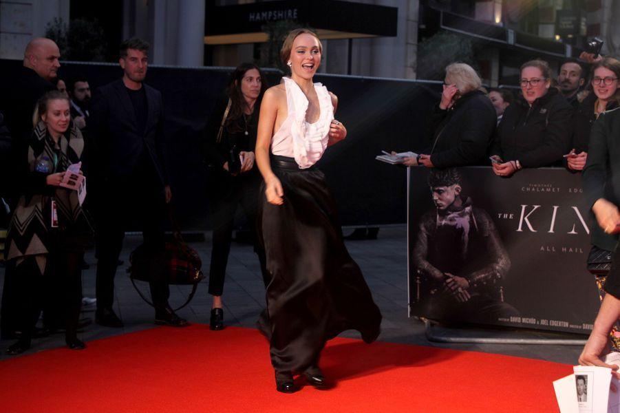 Lily-Rose Depp à l'avant-première de «The King» lors du Festivaldu film de Londres (BFI) le 3 octobre 2019