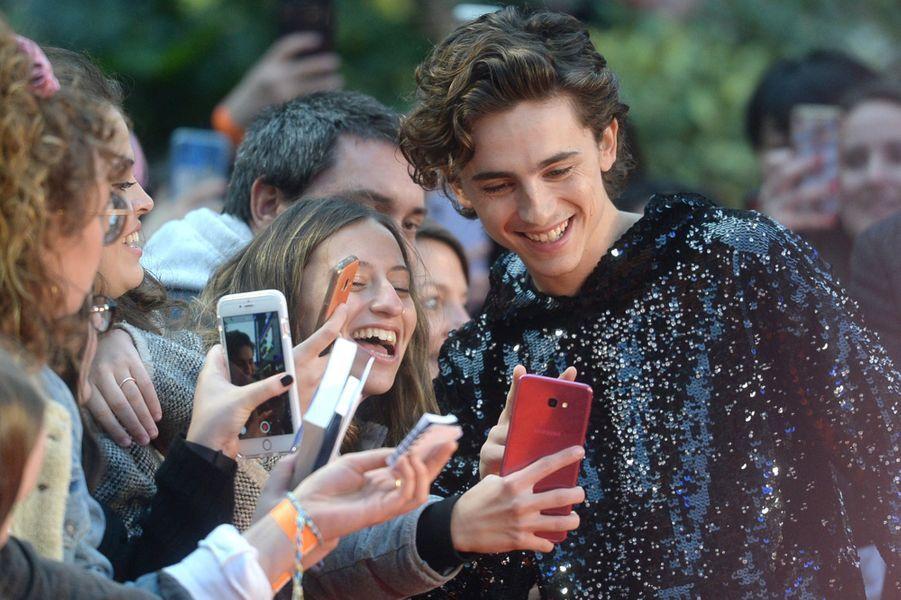 Timothée Chalametà l'avant-première de «The King» lors du Festivaldu film de Londres (BFI) le 3 octobre 2019