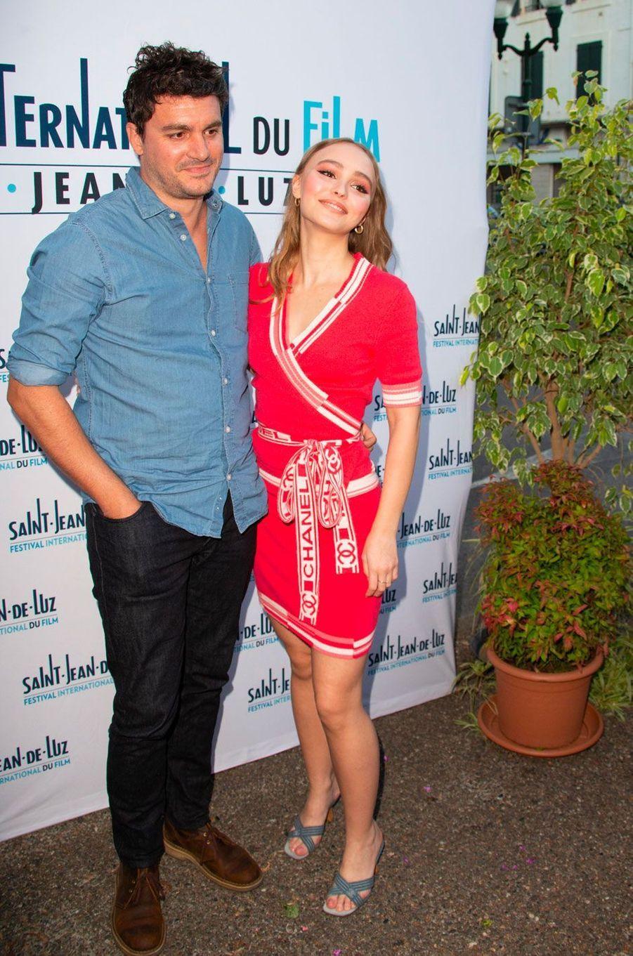 Lily-Rose Depp et Vincent Mariette à Saint-Jean-de-Luz le 2 octobre 2018