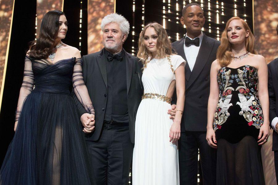 Monica Bellucci, Pedro Almodovar, Lily-Rose Depp, Will Smith et Jessica Chastain