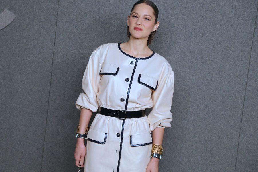 Marion Cotillard au défilé Chanel mardi à New York