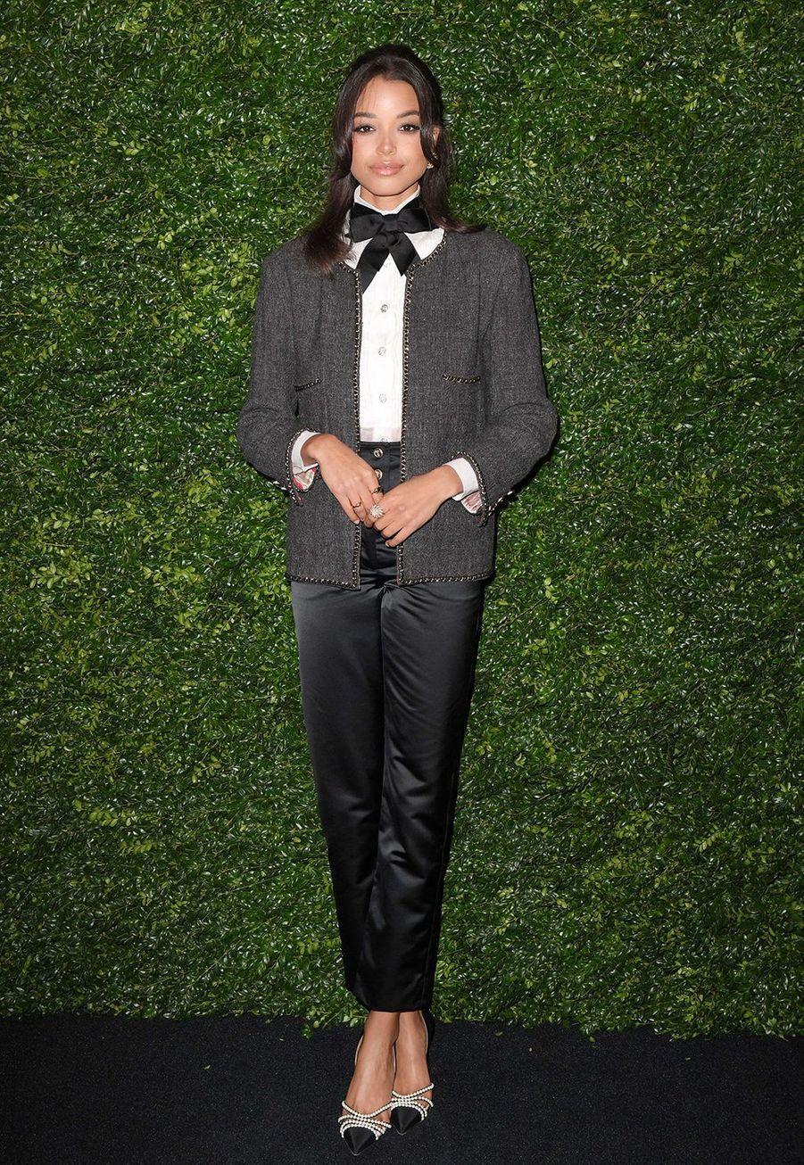 Ella Balinskalors de la soirée Chanel organisée en marge des BAFTA à Londres le 1er février 2020