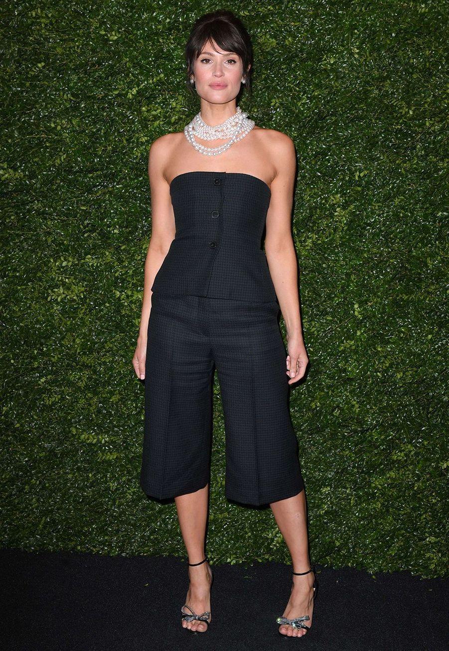 Gemma Artertonlors de la soirée Chanel organisée en marge des BAFTA à Londres le 1er février 2020