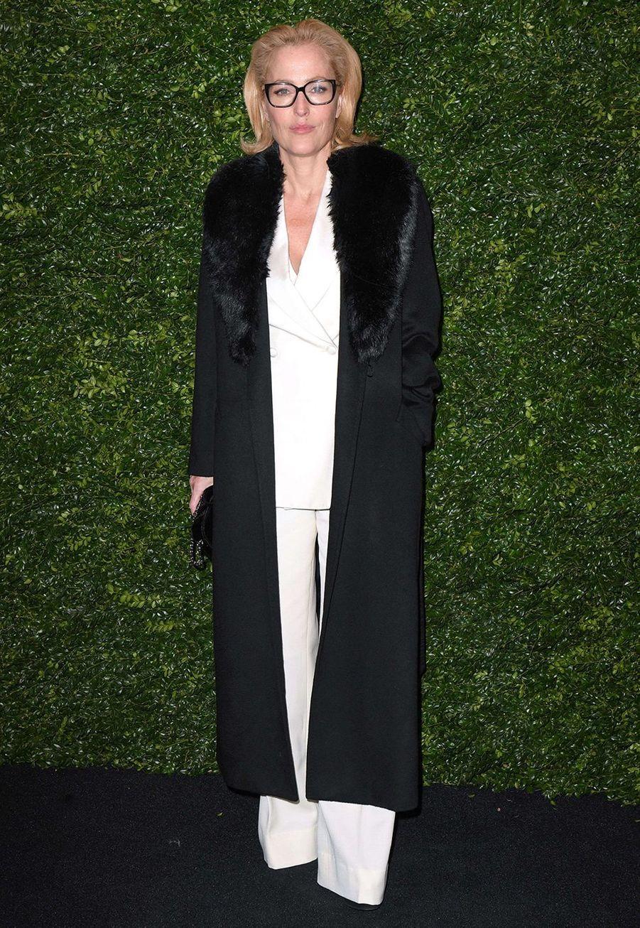 Gillian Andersonlors de la soirée Chanel organisée en marge des BAFTA à Londres le 1er février 2020