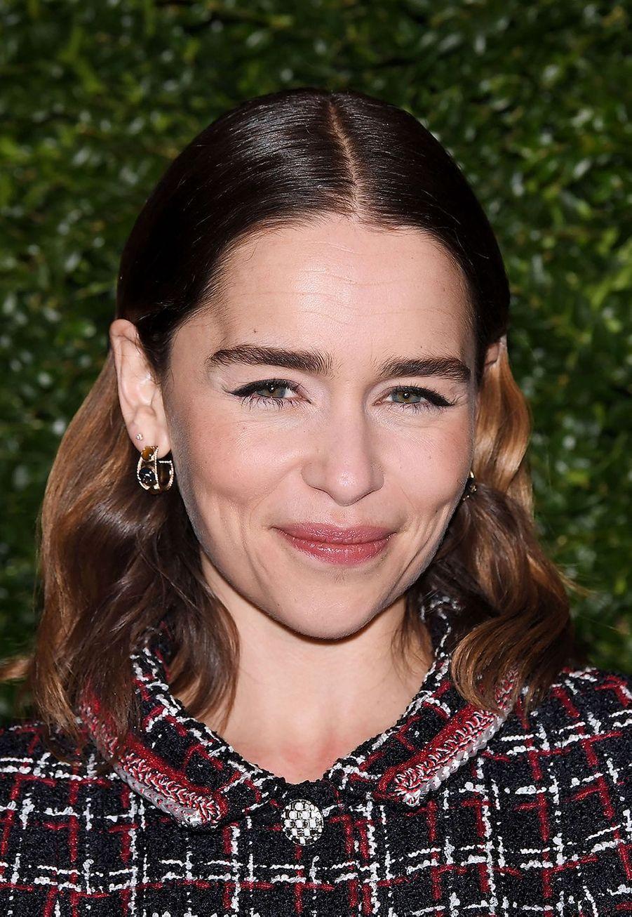 Emilia Clarke lors de la soirée Chanel organisée en marge des BAFTA à Londres le 1er février 2020