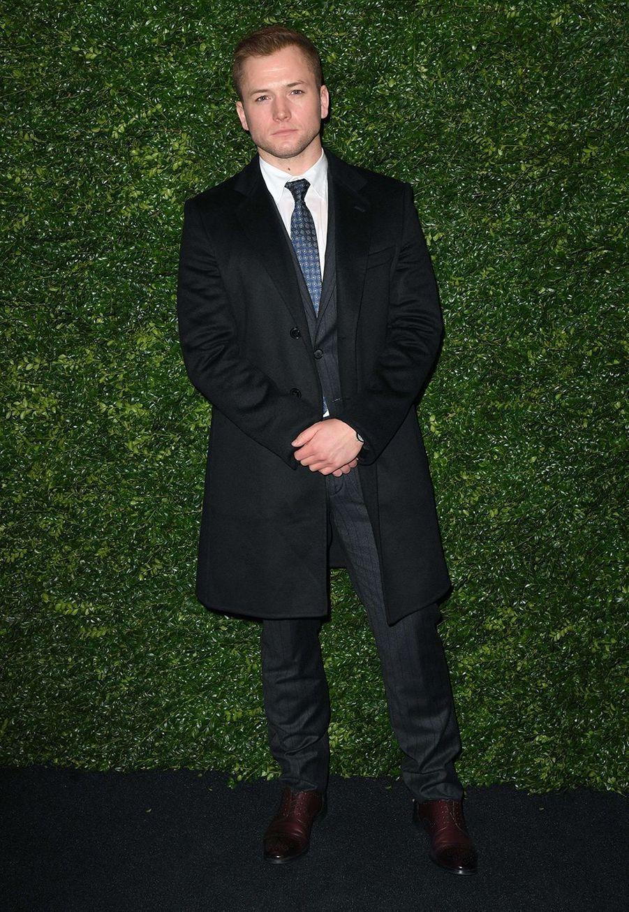 Taron Egertonlors de la soirée Chanel organisée en marge des BAFTA à Londres le 1er février 2020