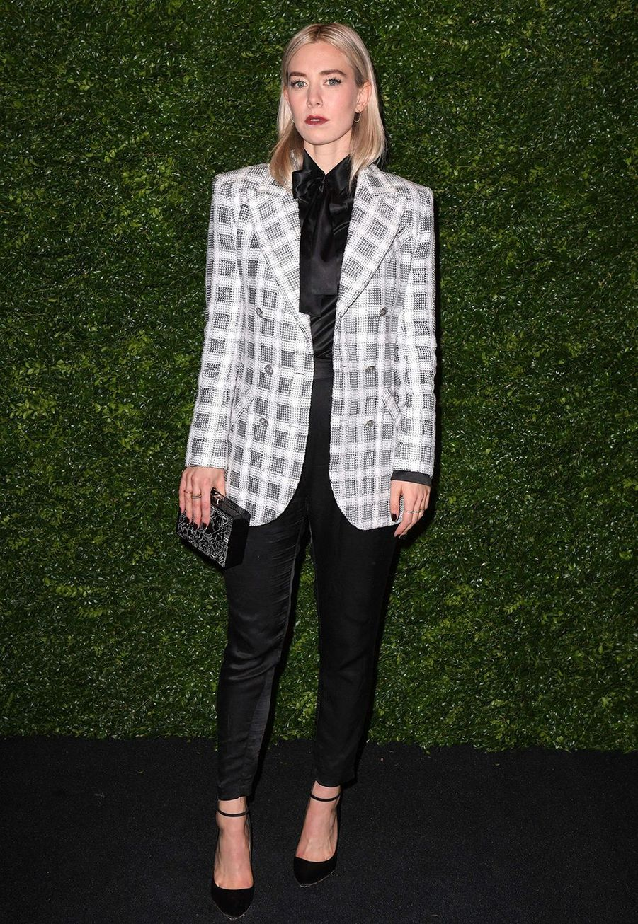 Vanessa Kirbylors de la soirée Chanel organisée en marge des BAFTA à Londres le 1er février 2020