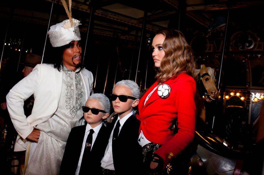 Lily-Rose Depp à la soirée Halloween de Chanel et V Magazine