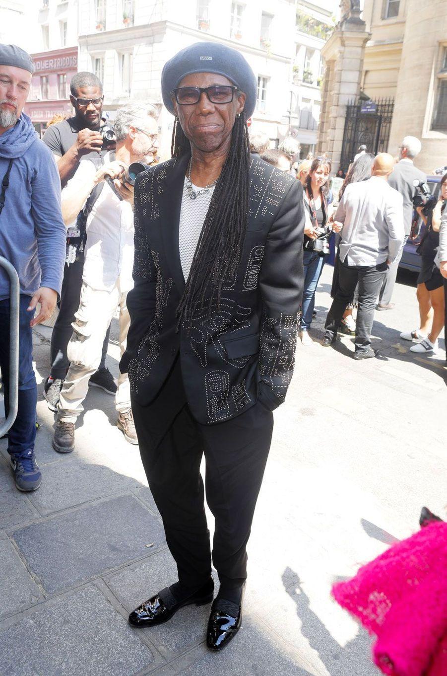Nile Rodgers au défilé Jean-Paul Gaultier le 4 juillet 2018 à Paris
