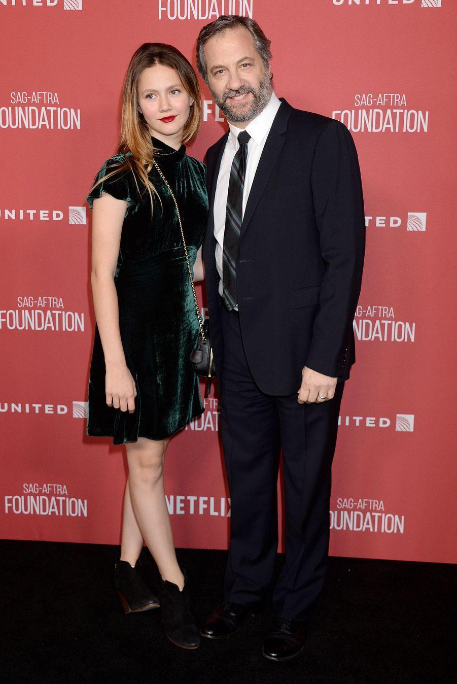 Judd Apatow et sa femme Irisà la soirée des SAG- AFTRA Foundation's Patron of the Artists Awards à Los Angeles, le 9 novembre 2017.