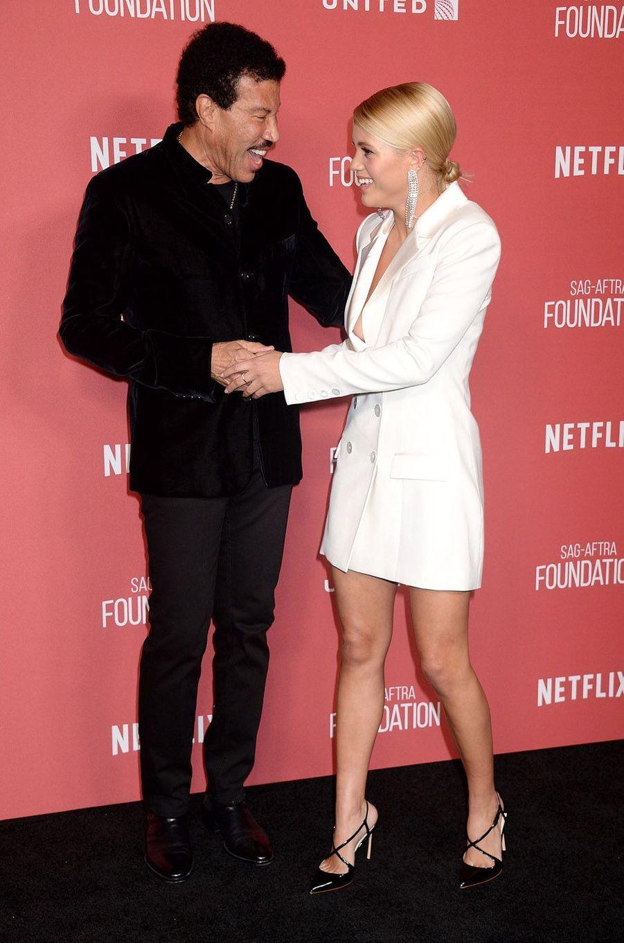 Lionel et Sofia Richieà la soirée des SAG- AFTRA Foundation's Patron of the Artists Awards à Los Angeles, le 9 novembre 2017.