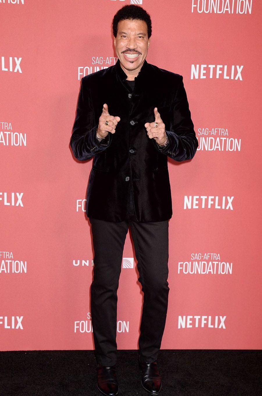 Lionel Richieà la soirée des SAG- AFTRA Foundation's Patron of the Artists Awards à Los Angeles, le 9 novembre 2017.