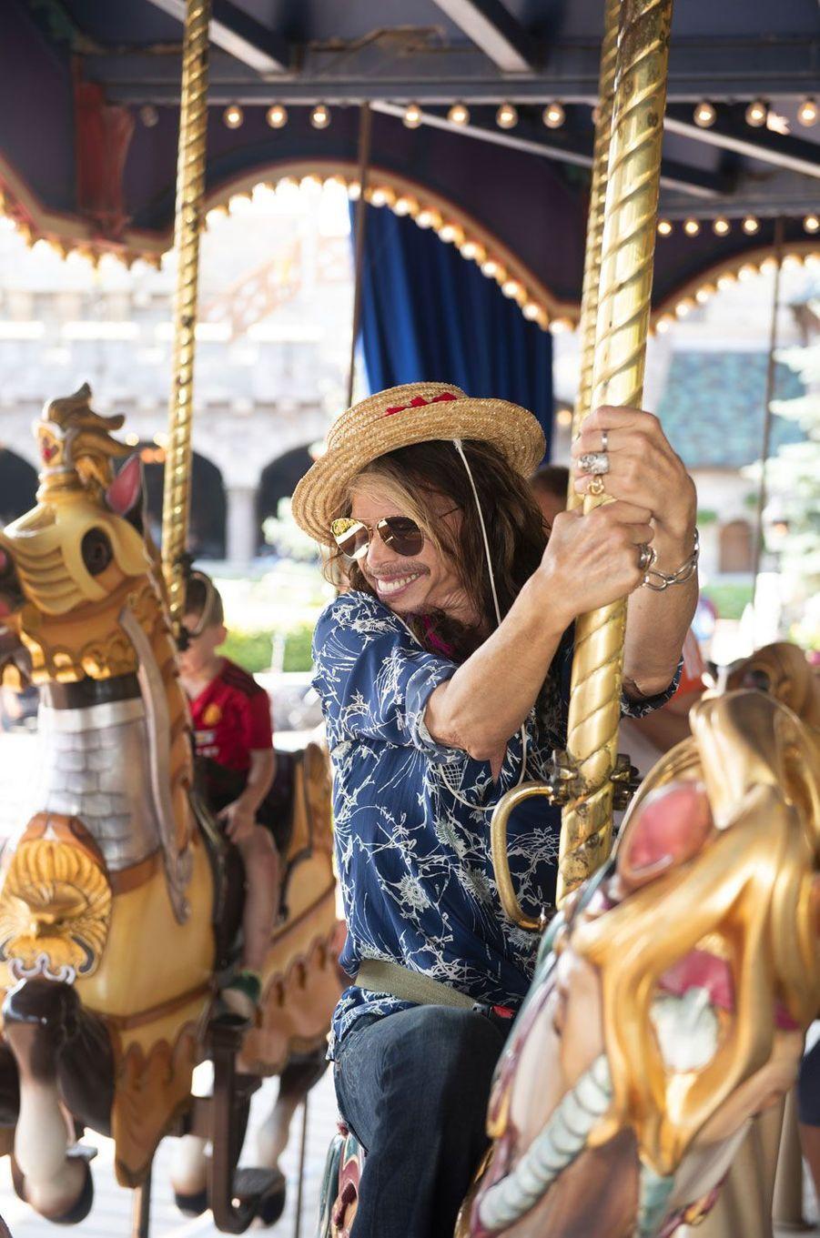 Steven Tyler à Disneyland Paris, août 2018