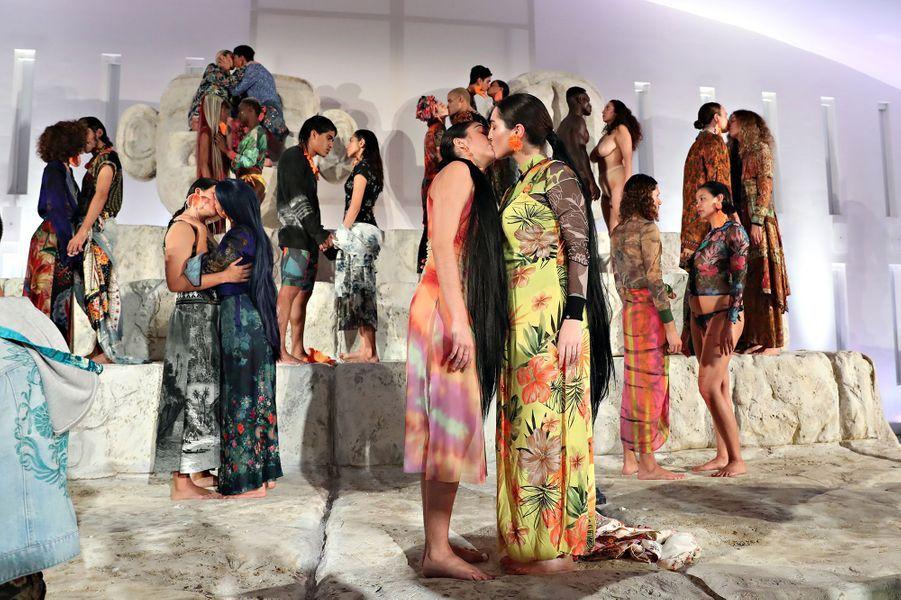 Lourdes Leon lors d'une performance dans le cadre de l'Art Basel de Miami le 6 décembre 2019