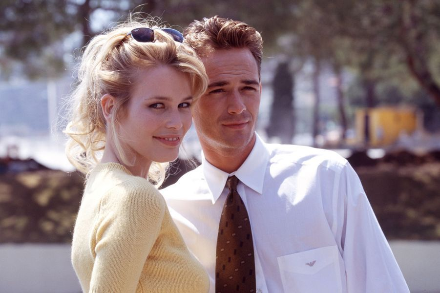 Luke Perry et Claudia Schiffer à Monaco en 1995