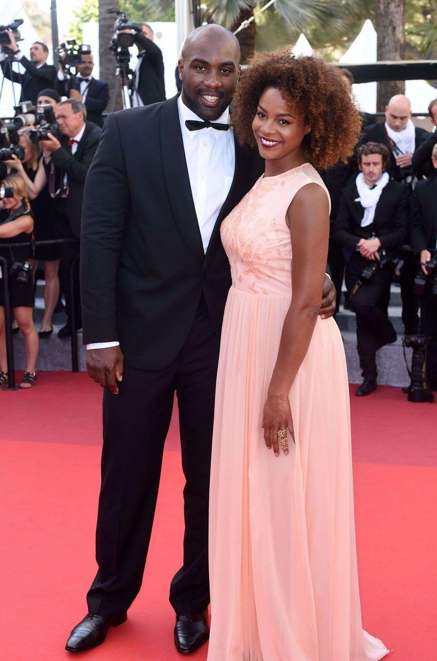 Luthna Plocus et Teddy Riner à Cannes en 2016.