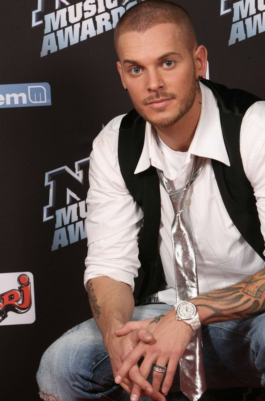 M. Pokora aux NRJ Music Awards en 2008